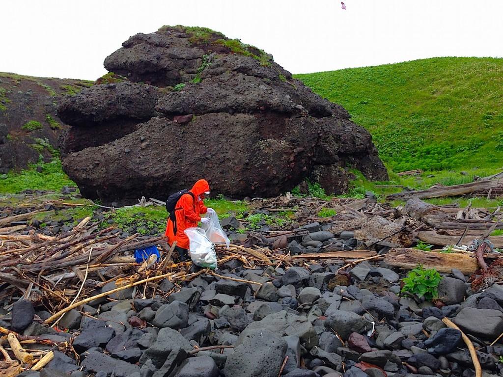 2014年の知床岬クリーン作戦の様子