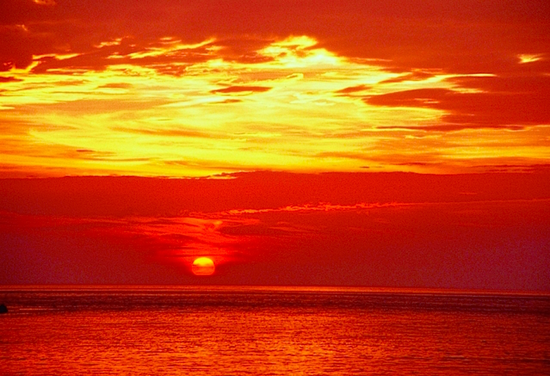 日本最西端の日没