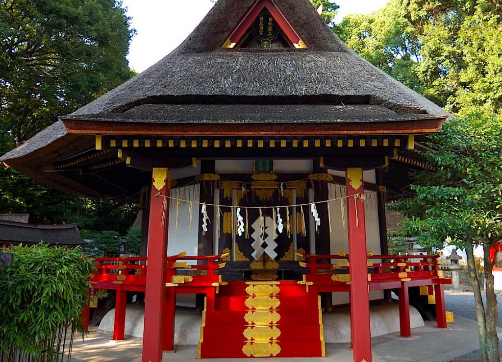 重要文化財に指定される吉田神社の斎場所大元宮