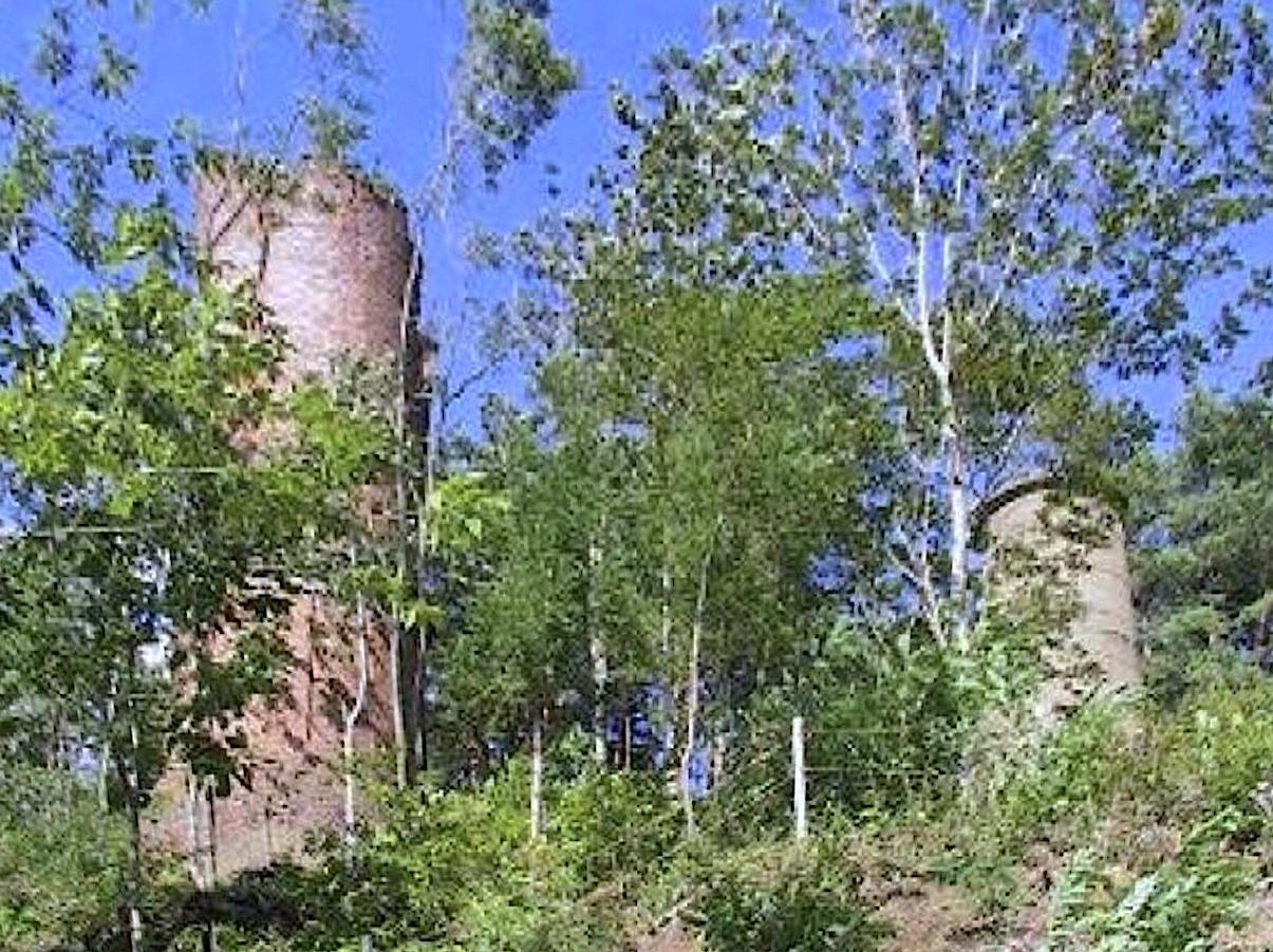 安部城鉱山跡