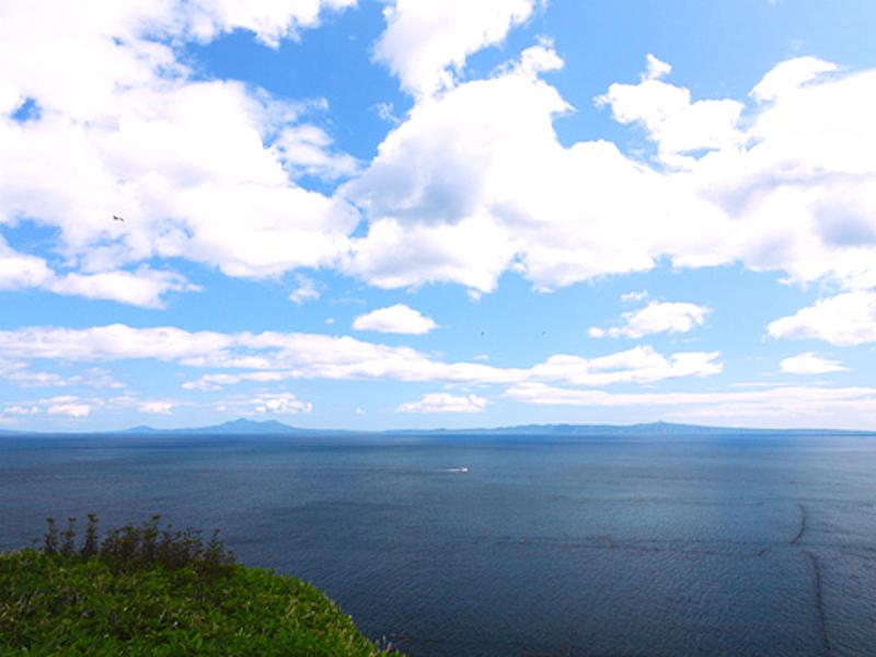 国後島を眺望