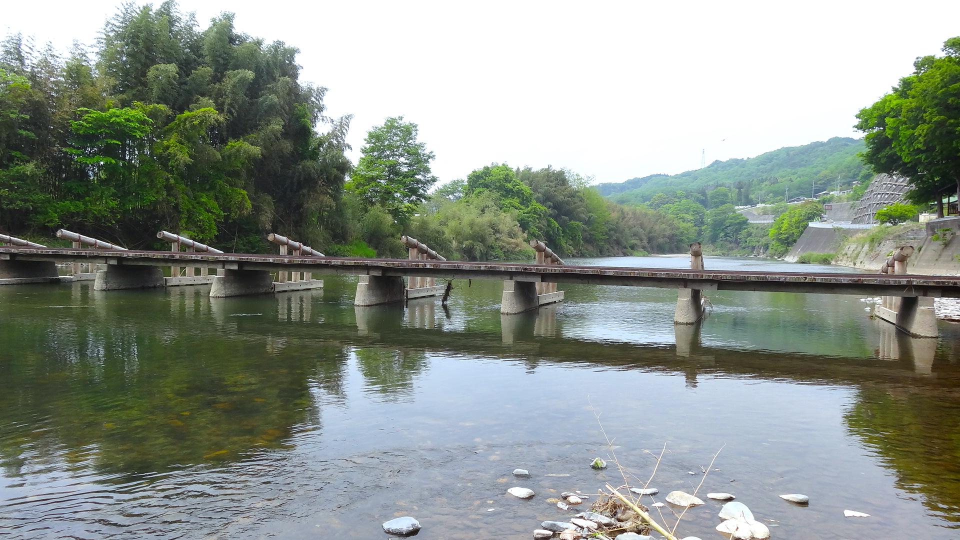 久野瀬橋(久慈川沈下橋)