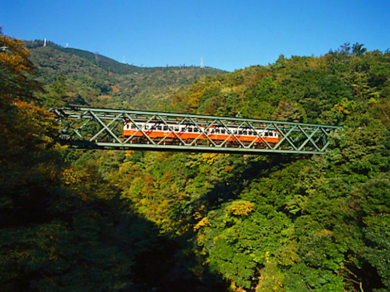 箱根登山鉄道・出山の鉄橋(早川橋梁)