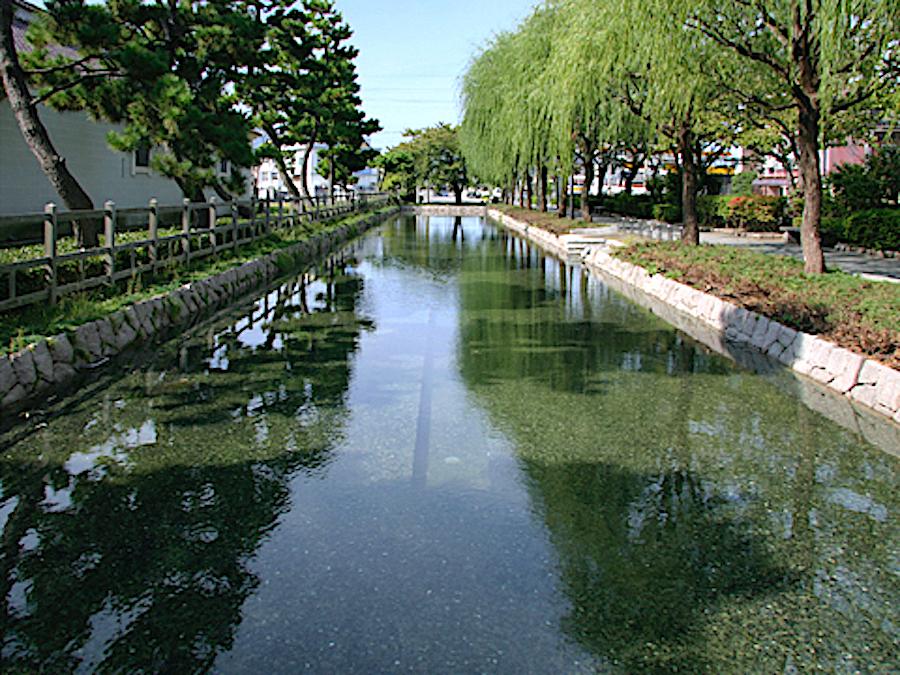 早川堀(みなとぴあ新潟市歴史博物館)