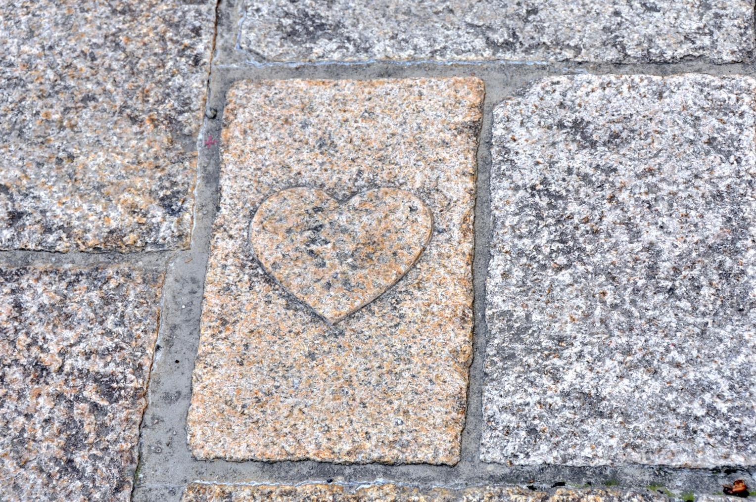 ハートの石畳(紺屋小路)