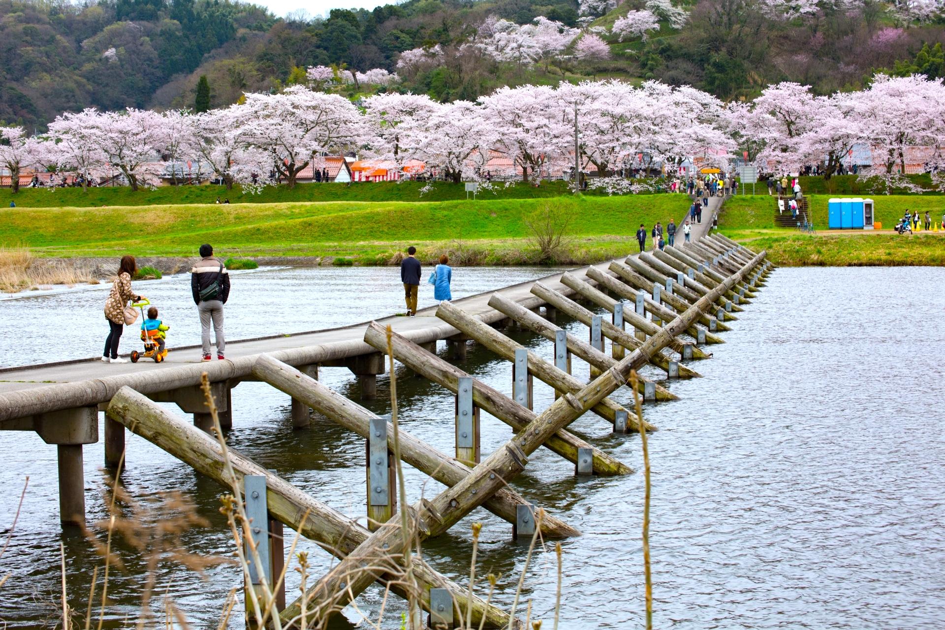 願い橋(潜水橋)