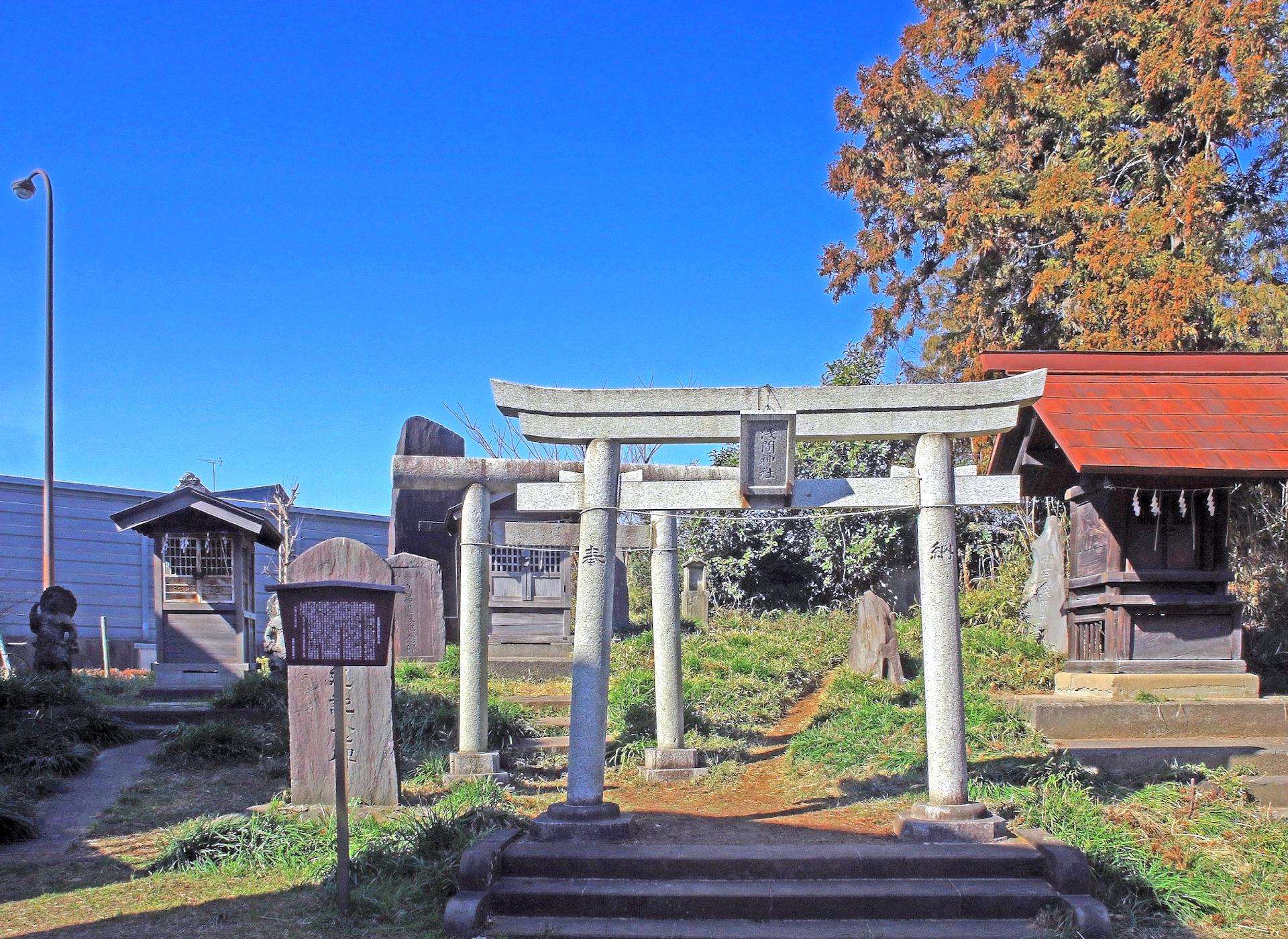 赤塚諏訪神社富士塚