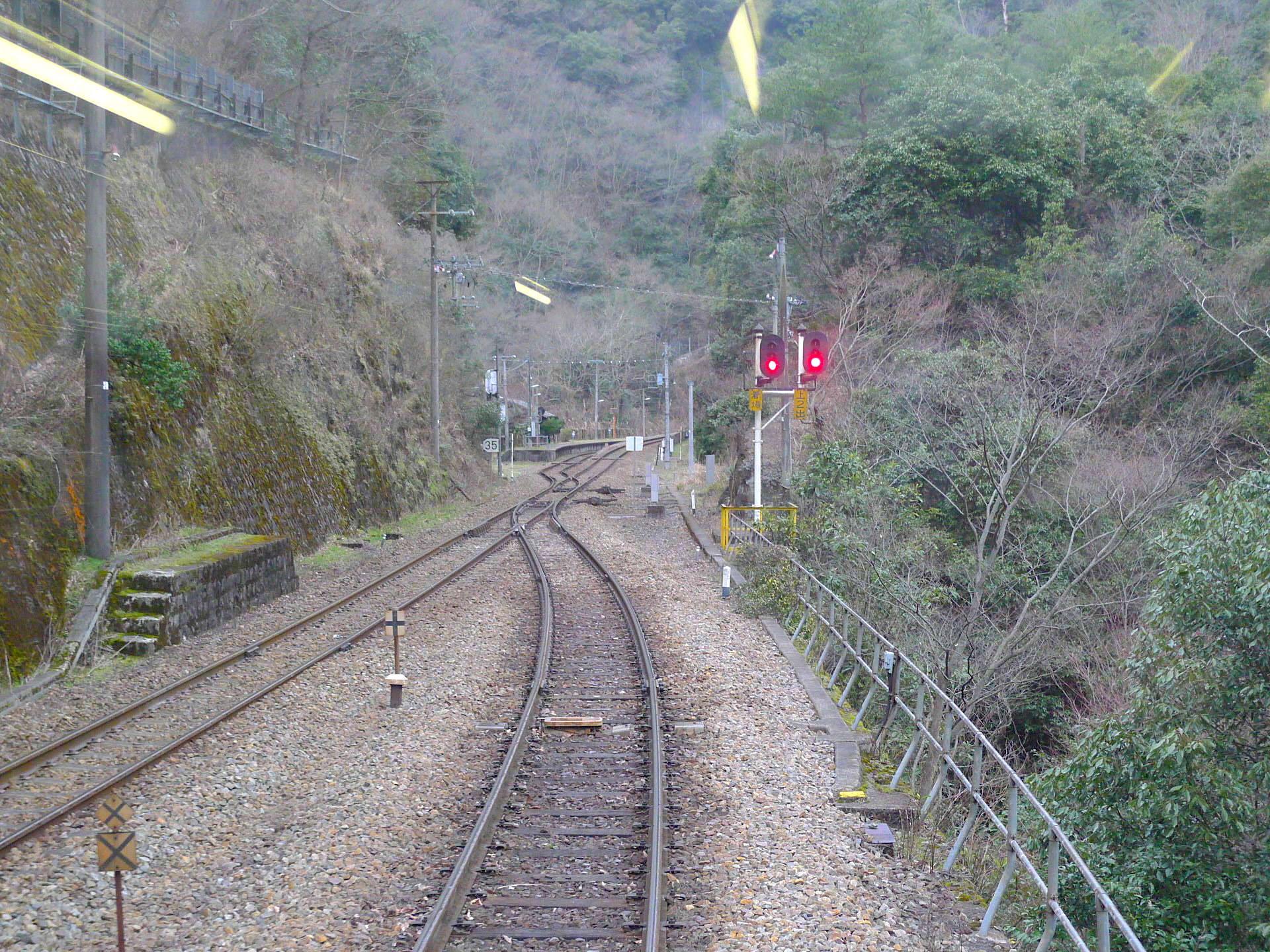 坪尻駅(スイッチバック駅)