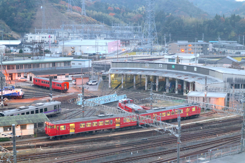 米子駅(後藤総合車両所)扇形機関庫・転車台