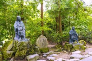 立石寺・芭蕉と曽良の像