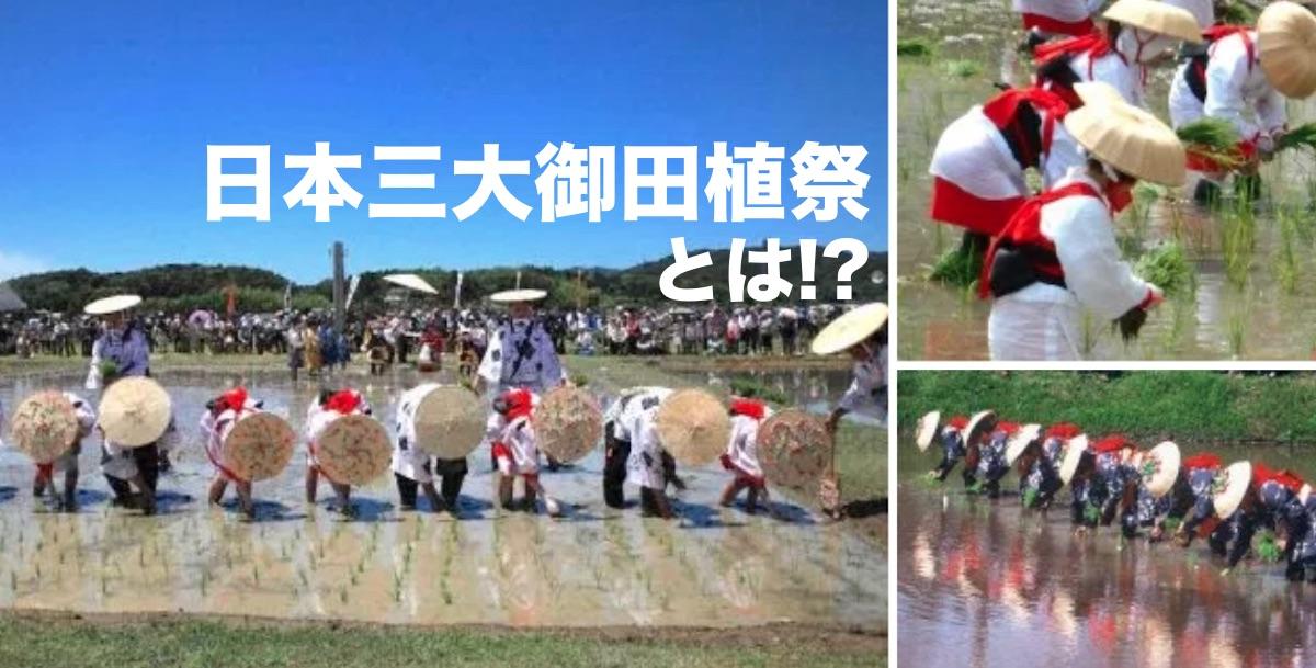日本三大御田植祭