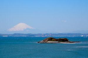東京湾第一海堡と富士山
