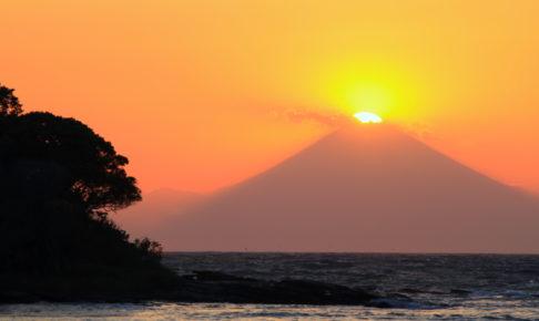 沖ノ島・ダイヤモンド富士