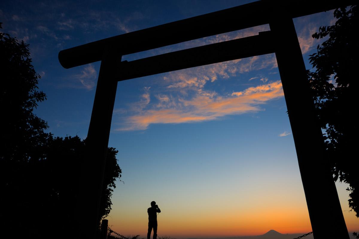 洲崎神社・ダイヤモンド富士