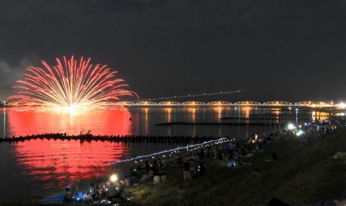 阿賀野川ござれや花火
