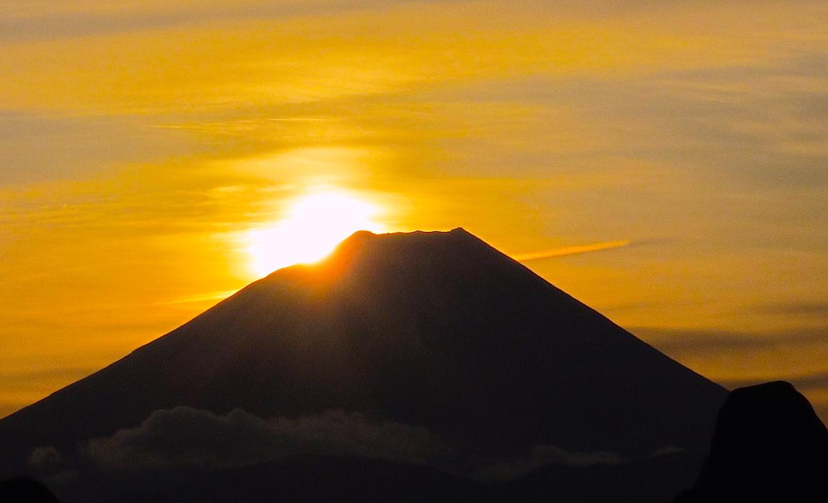 富士川町日出る里(ひいずるさと)からの初日の出