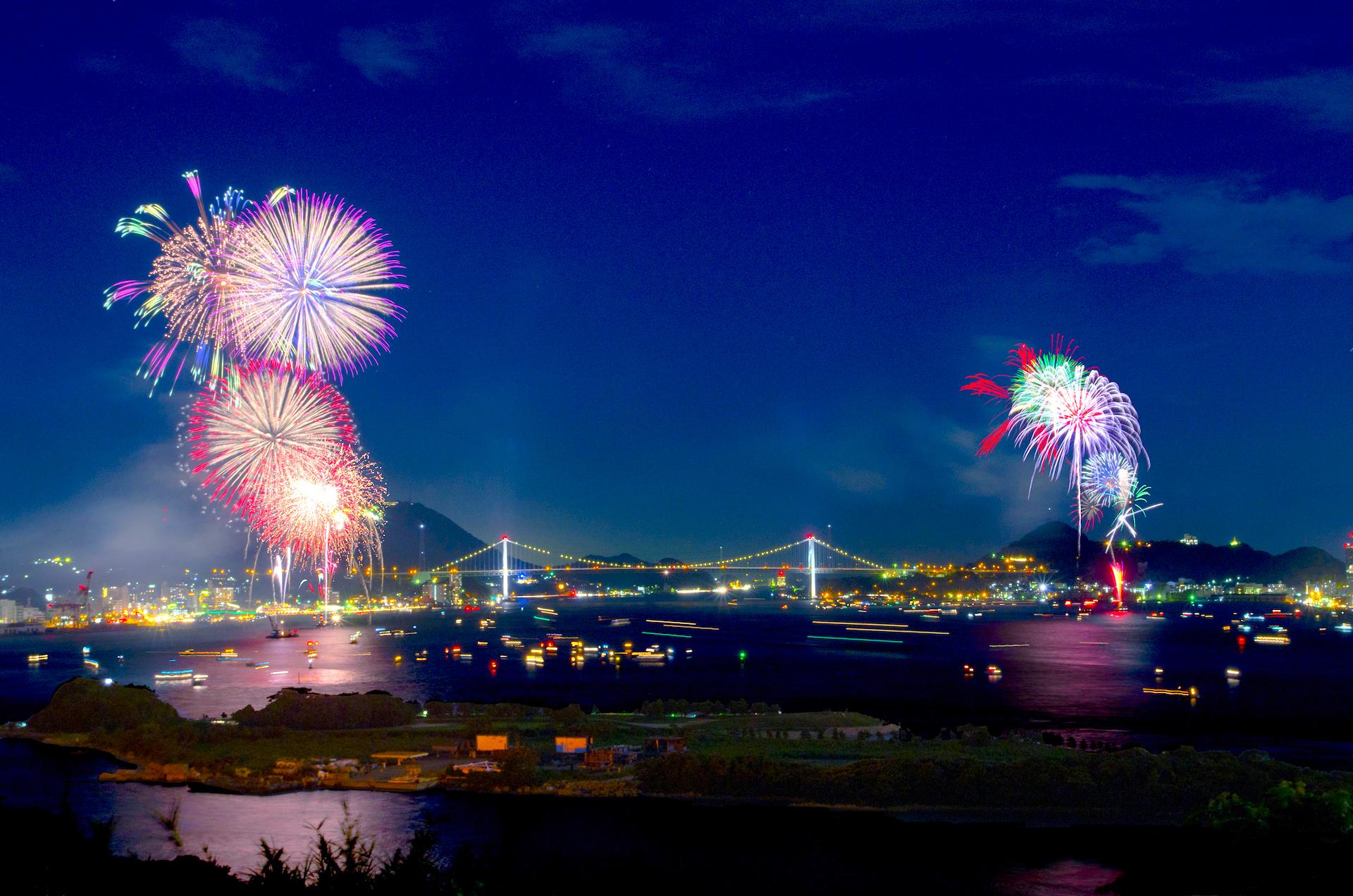 関門海峡花火大会|下関市