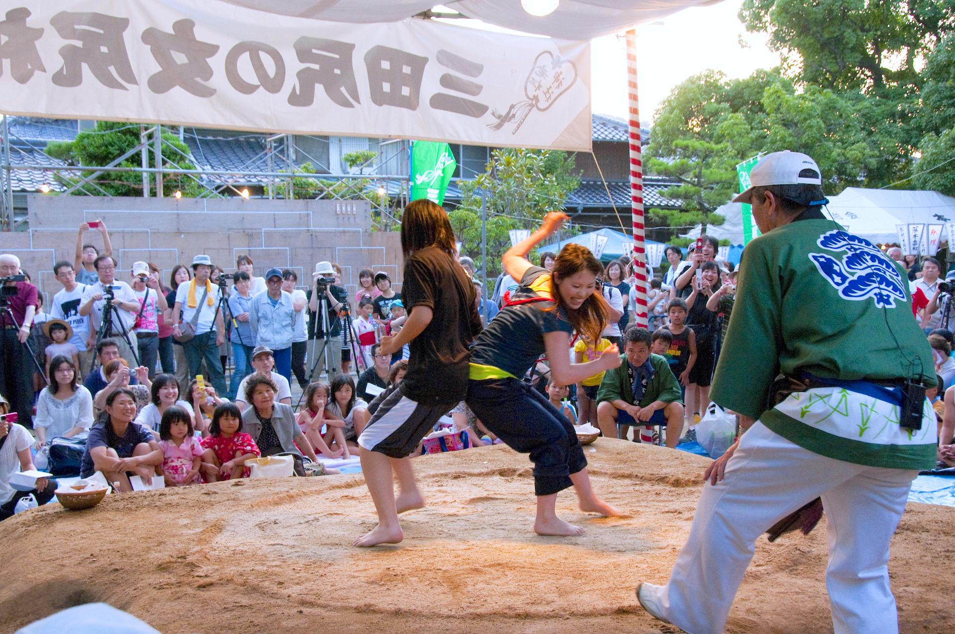 三田尻の女尻相撲大会