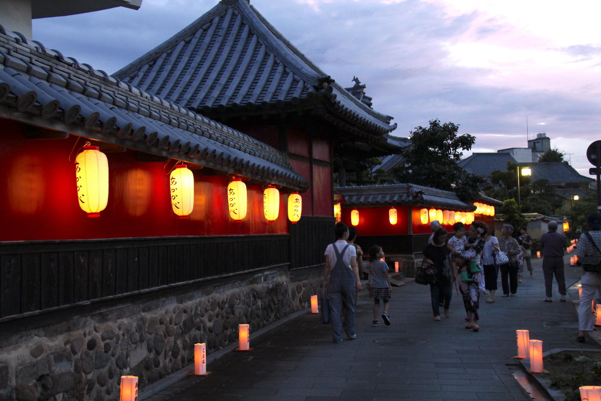なかつ寺町とうろう祭り(七観音参り)