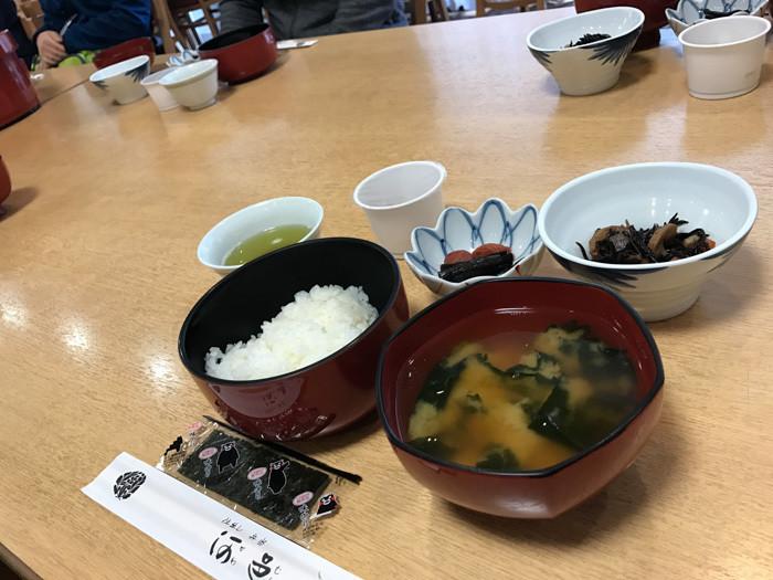 清澄寺宿坊体験 朝食