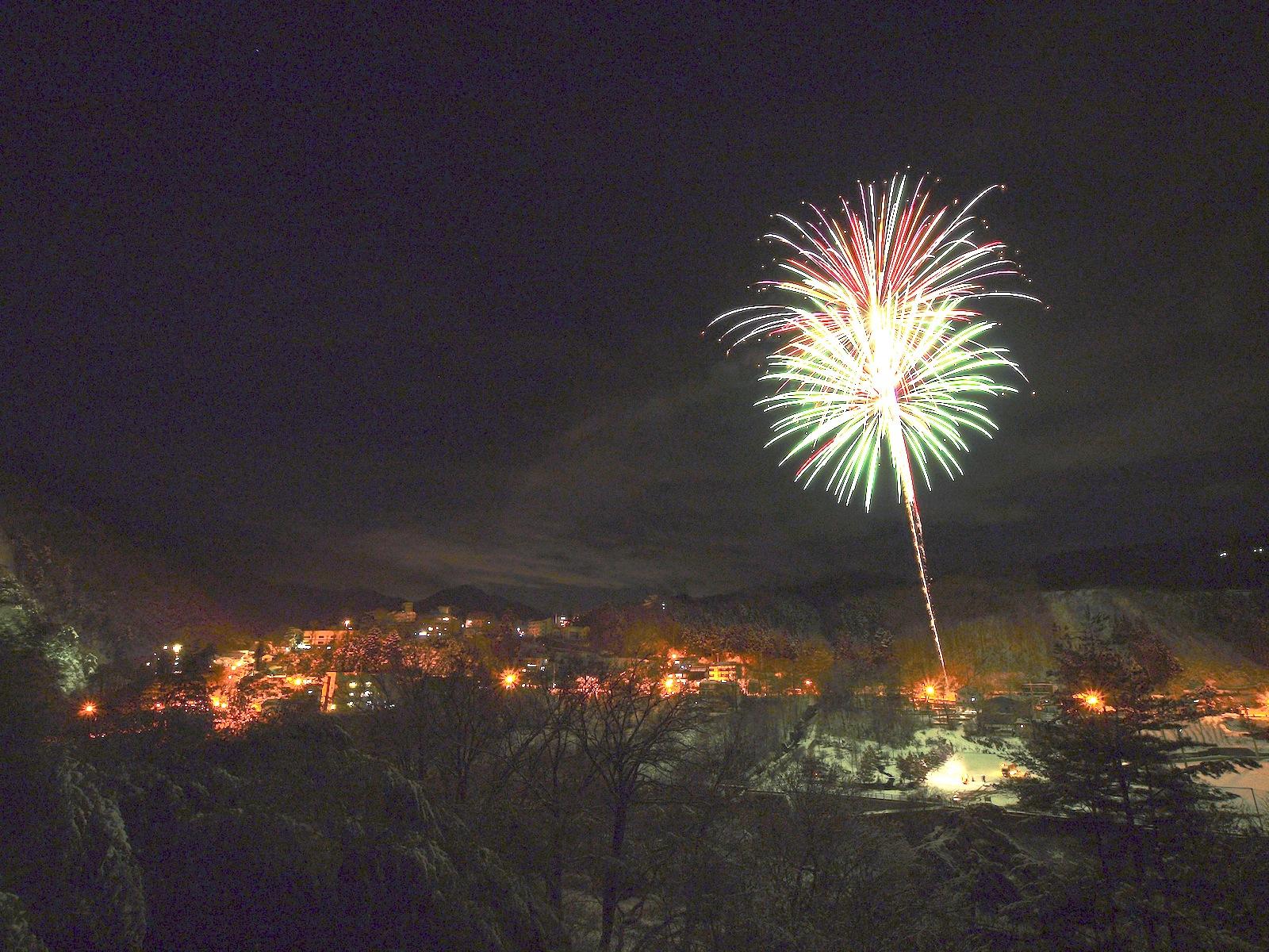 老神温泉節分祭・冬の花火