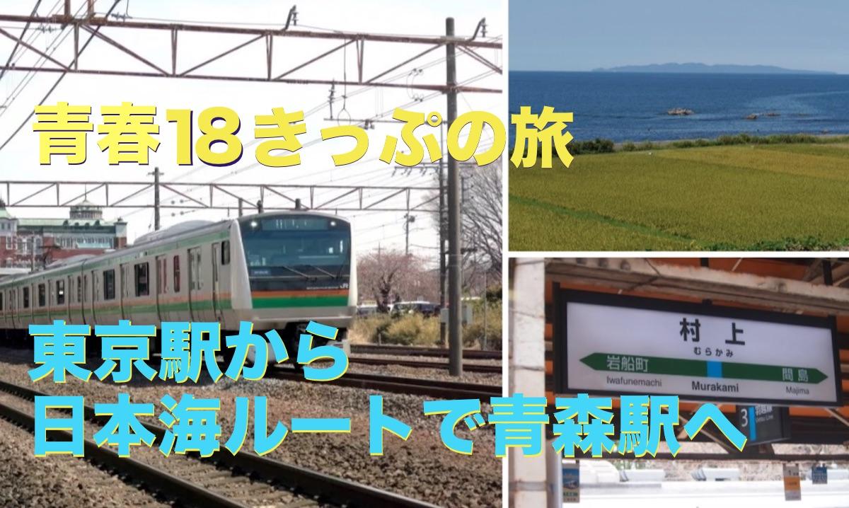 青春18きっぷの旅(1) 東京駅から日本海ルートで青森駅へ