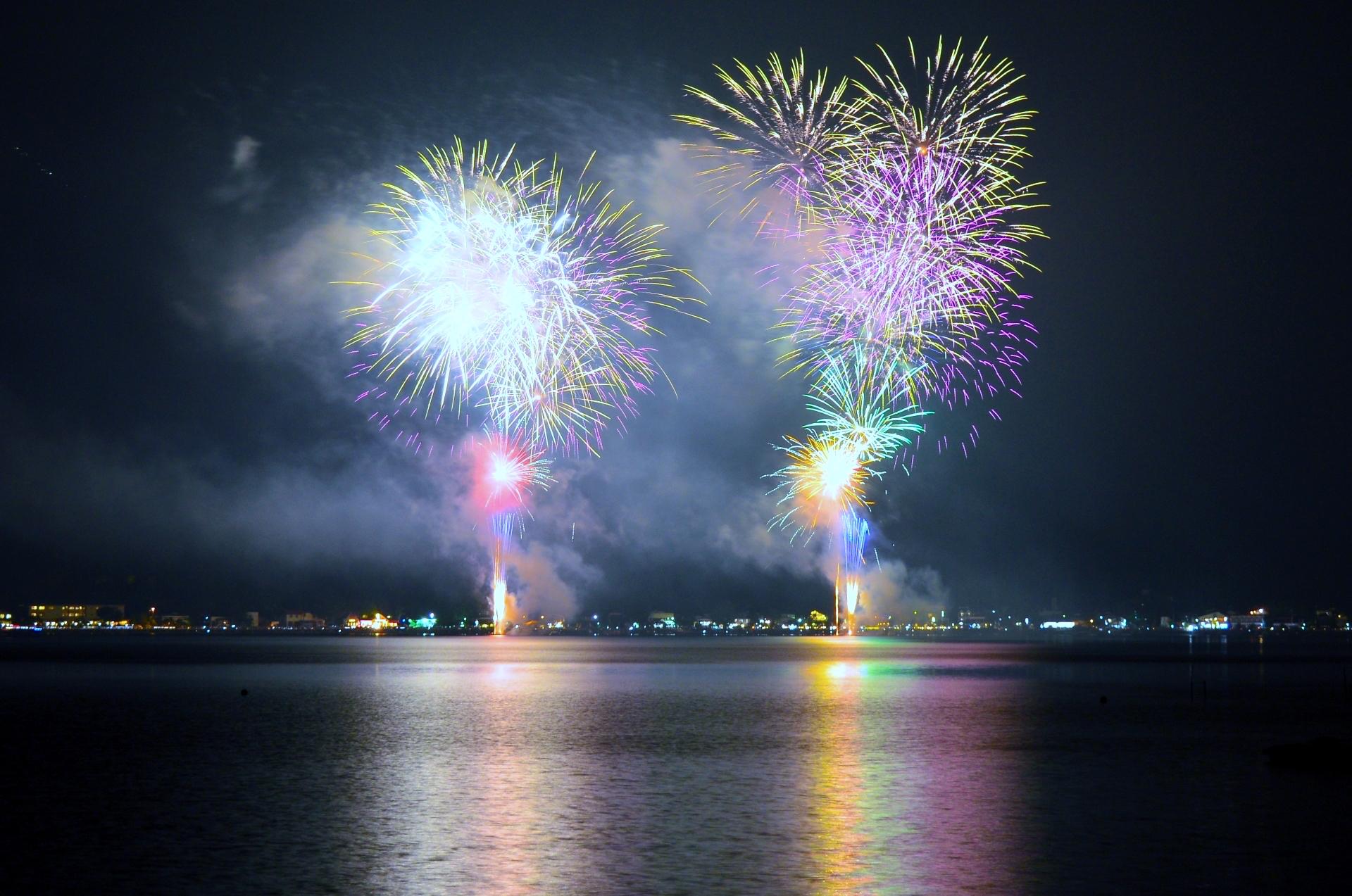 山中湖花火大会報湖祭