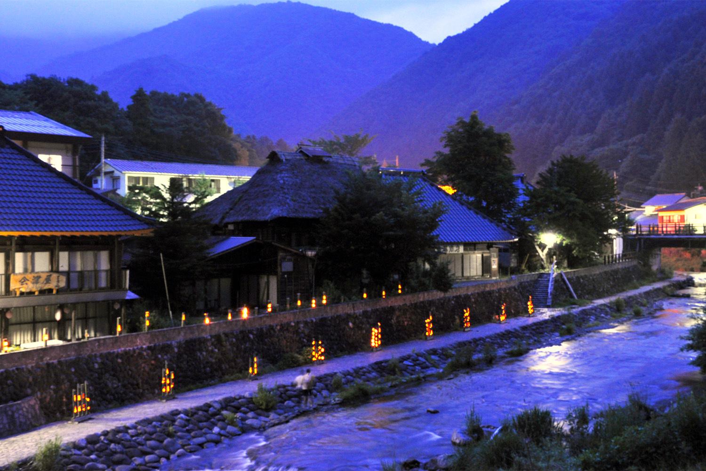 湯西川温泉竹の宵まつり